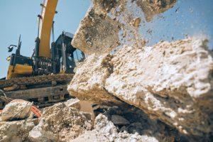 Portland Concrete Crushing & Recycling machine crushing concrete